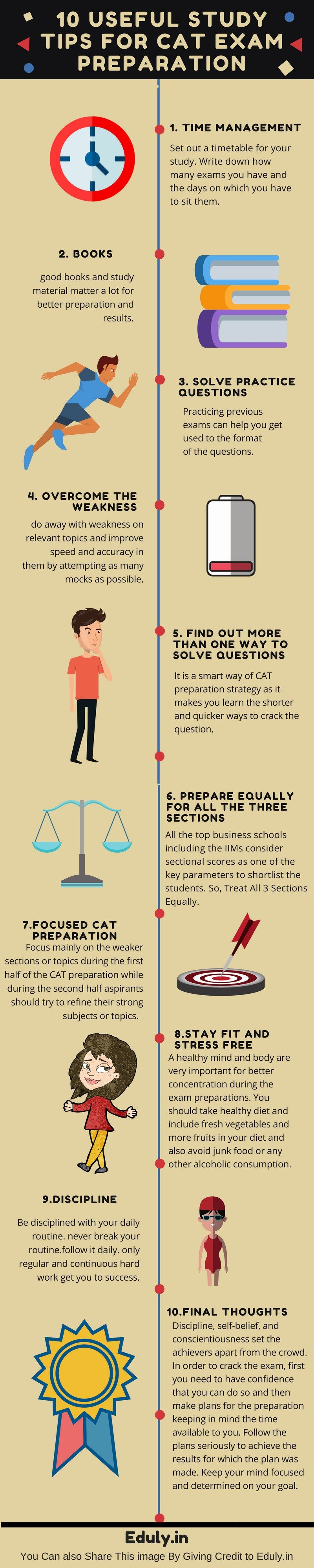 10 Useful Study Tips For the CAT