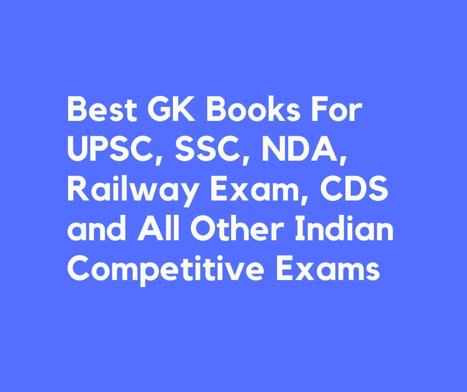 best books for gk for competitive exams